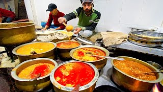 Indian Street Food - FAMOUS Kesar Da Dhaba! OLD IS GOLD Street Food in Amritsar, India!!