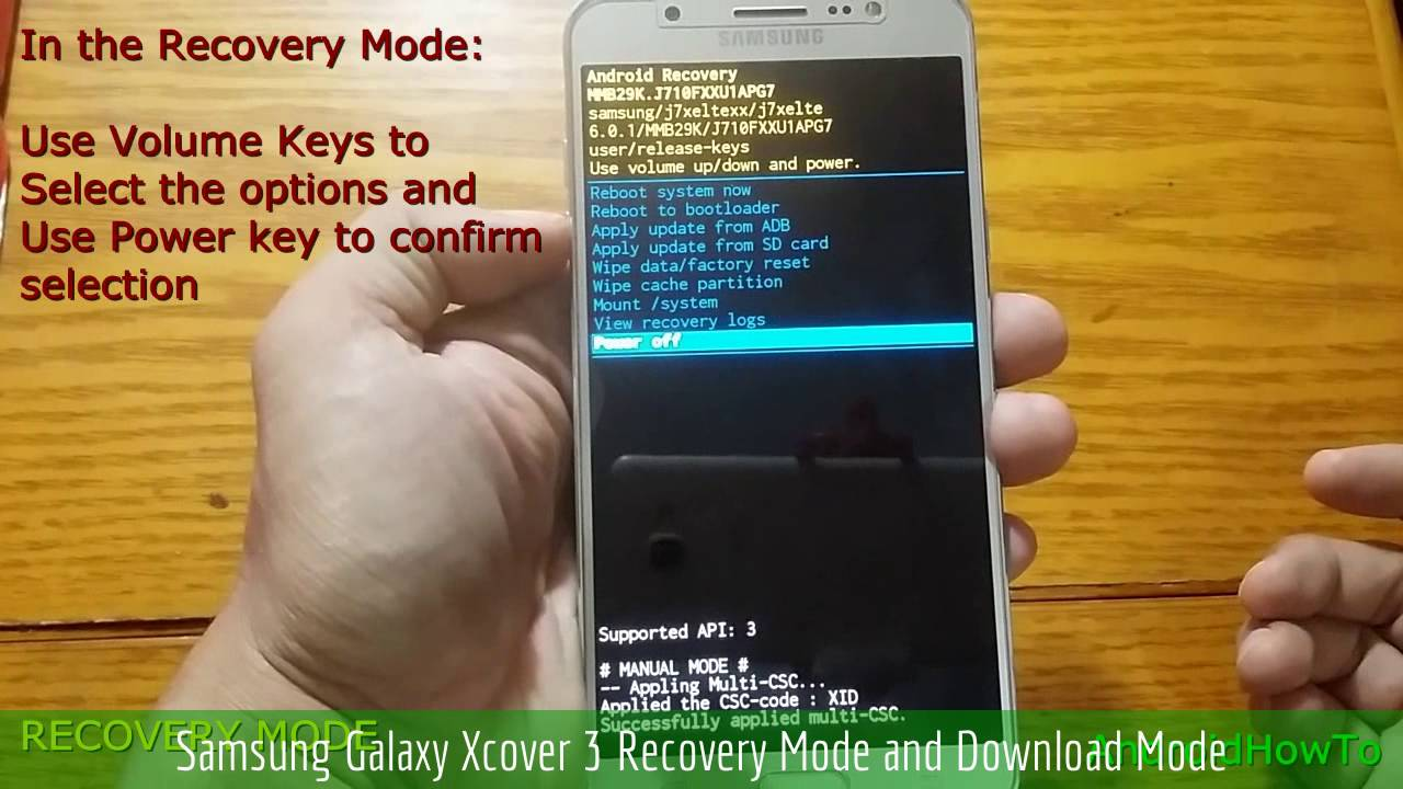 new product b0101 fee14 Samsung Galaxy Xcover 3 Recovery Mode and Download Mode