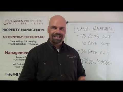 Lease Renewal Procedures by Larsen Properties