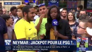 Devant la boutique du PSG, tout le monde veut le maillot de Neymar, même un Marseillais
