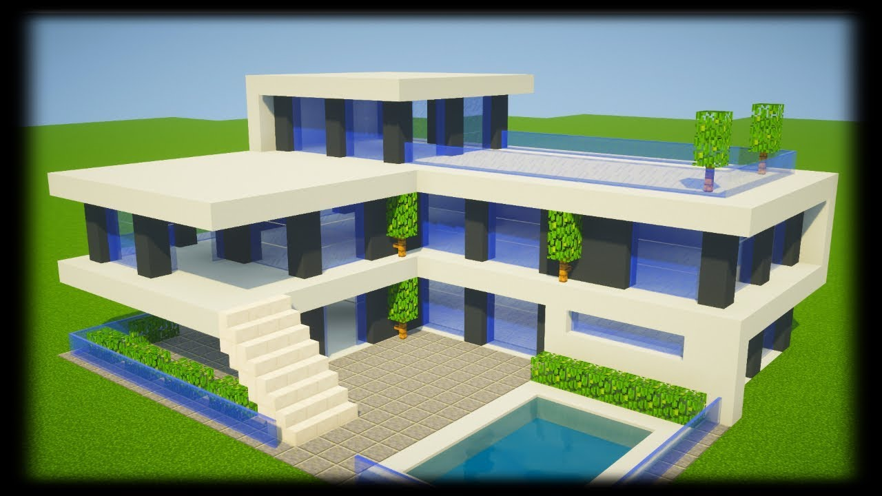Tuto Grande Maison Moderne Facile A Faire Minecraft