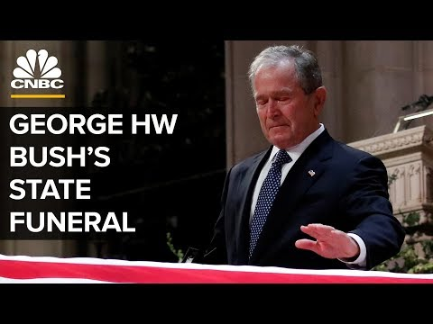 George HW Bushs Funeral - Moving Moments From The Service
