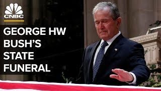 George HW Bush's Funeral - Moving Moments From The Service