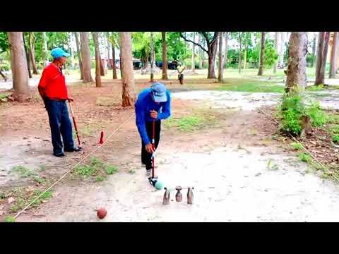 ข่ากีฬาชิงแมป์จ้าวสนามวู้ดบอลวัดเขาน้อย อำเภอสิงหนครรายวัน หากิจกรรมสนุกช่วงโควิด-19 ระบาด