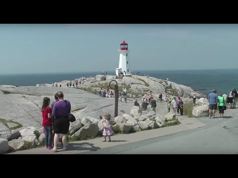 PEGGY'S POINT LIGHTHOUSE and PEGGY'S COVE - 30 MILES FROM HALIFAX, NOVA SCOTIA