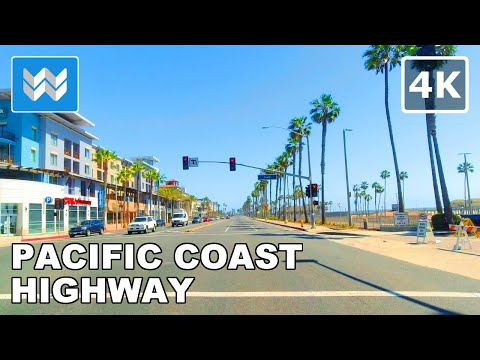 【4K】Driving Pacific Coast Highway (PCH) - Long Beach to Laguna Beach in California, USA