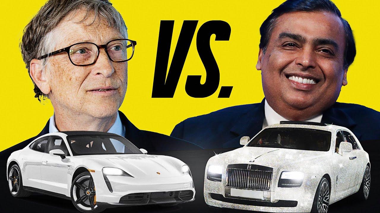 BILL GATES vs MUKESH AMBANI PRIVATE CAR COLLECTIONS