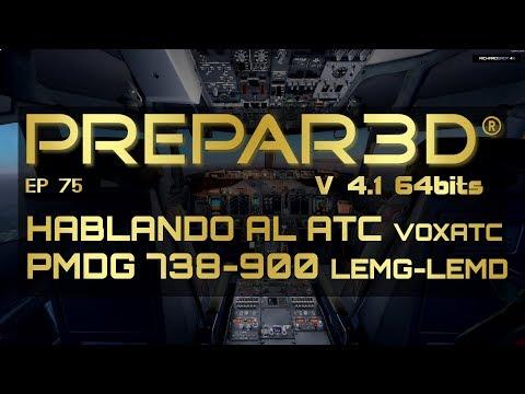 Charlando con el ATC hacia Madrid 🔴 Voxatc PMDG 737 900 P3D V4.1 4K