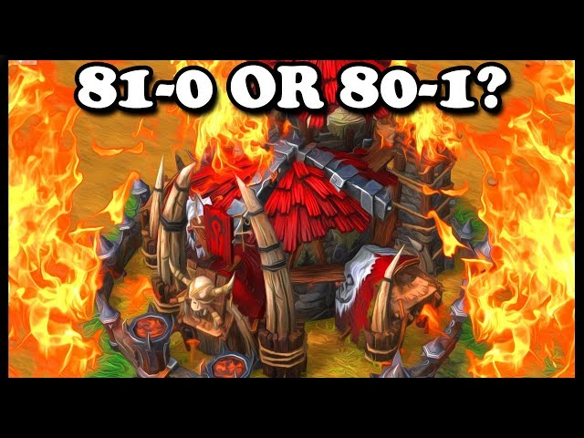 Grubby | WC3 Reforged | 81-0 OR 80-1?