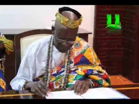 Togbe Agorkoli IV Of Togo Pays Courtesy Call On Nana Addo