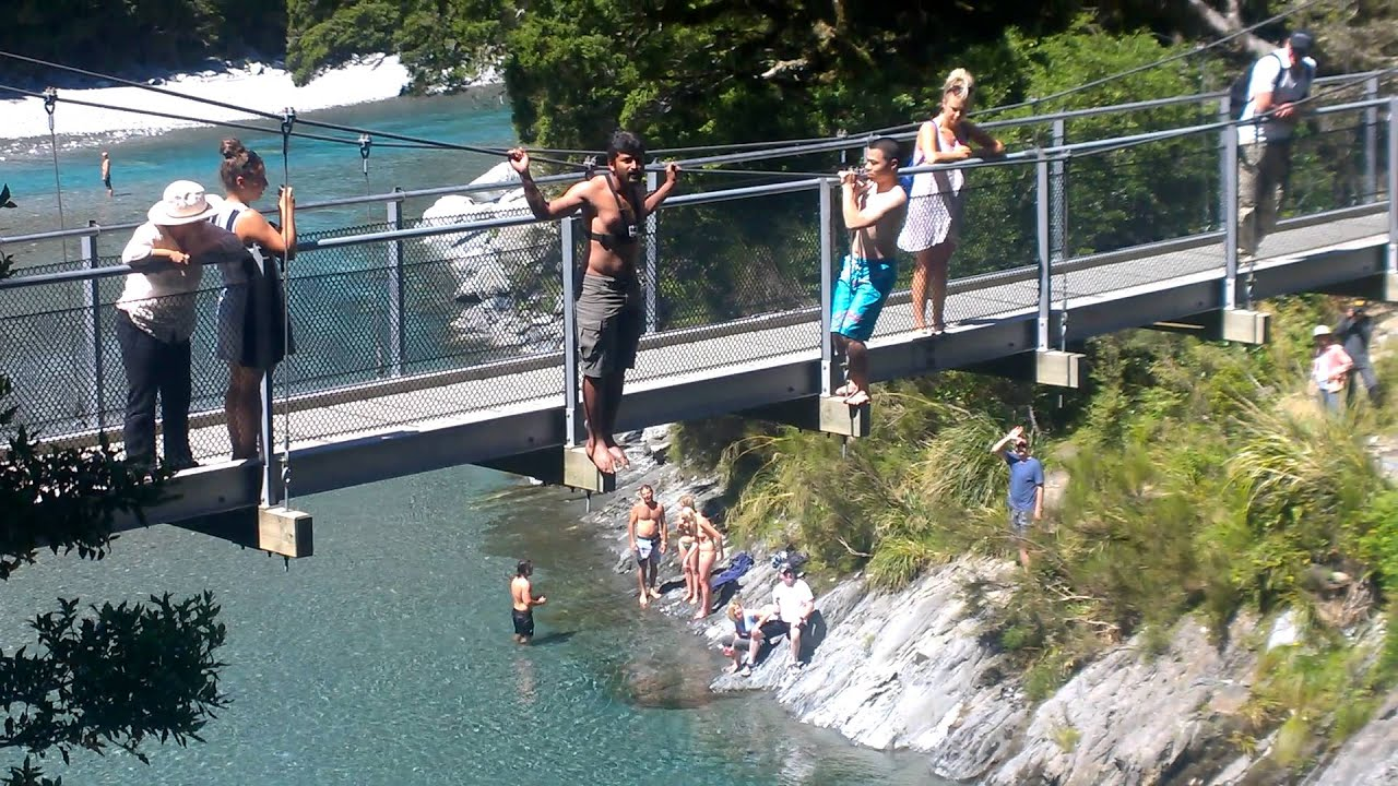 Walk In Pools Bridge Jumping Blue Pools Walk Chandan Youtube