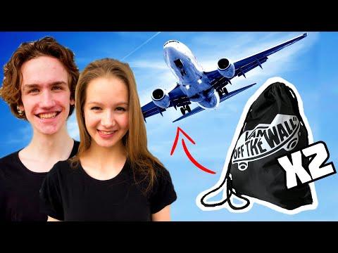 WHAT'S IN MY BAG?! *MINIMALIST COUPLE* PACKING! - LEONARDO & JENNA LICCIARDO-TOIVOLA (ON A BUDGET) thumbnail