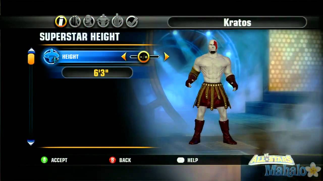 wwe all stars character creation kratos youtube