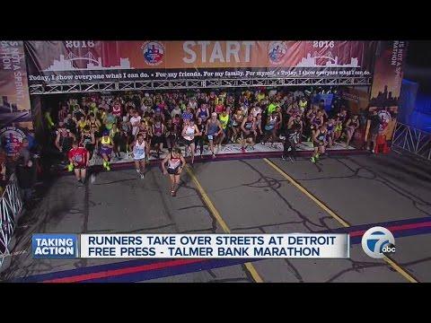 Runners hit the streets for Detroit marathon