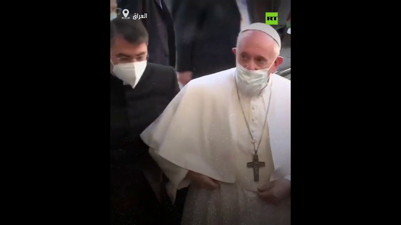 لحظة وصول البابا إلى النجف!  - نشر قبل 4 ساعة