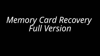 Memory Card Recovery 3.60.1012 With Serial