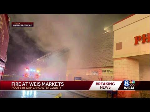 Fire At Weis Markets In Gap