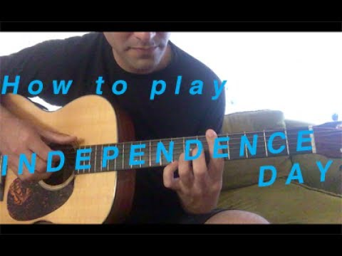 How To Play Independence Day Elliott Smith Youtube