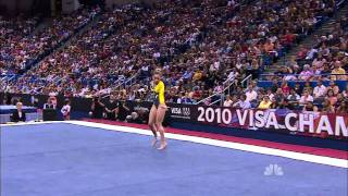 Mattie Larson - Floor Exercise - 2010 Visa Championships - Women - Day 2