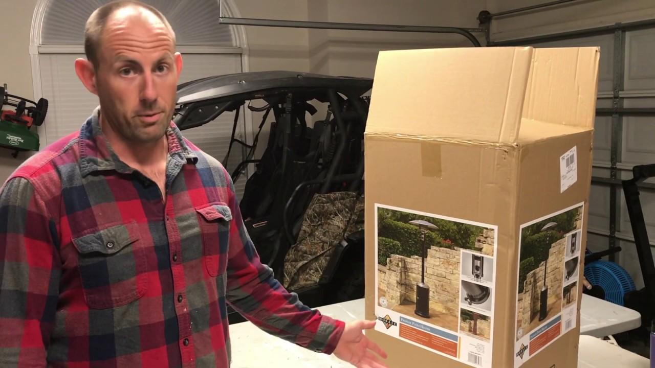 mosaic patio heater unboxing and assembly