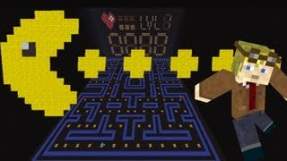 Pacman in Minecraft Map Launch Gameplay Video + Map Download