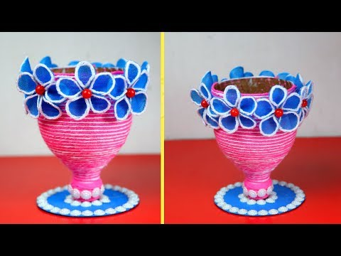 HOW TO REUSE WASTE CARRY BAG AND PLASTIC BOTTLE | ROOM DECOR IDEA 2019