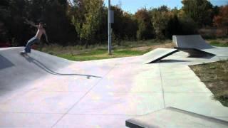 Josh Marin 50 grind at mohawk skate park tulsa oklahoma