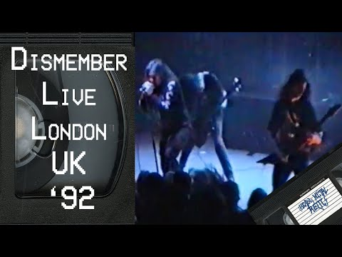 DISMEMBER Live in London UK May 8 1992 FULL CONCERT