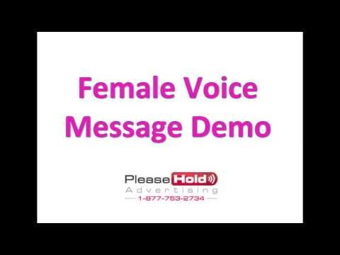 FREE On Hold Message Demo   female