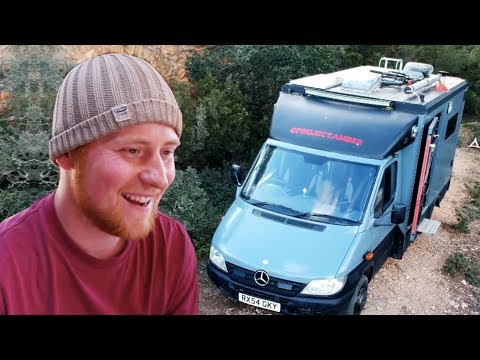 Amazing OFF-GRID Van Conversion with Wood-Burner, Shower AND Toilet!