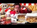THE SUPERCHARGED A&W MENU CHALLENGE! (10,000+ CALORIES)
