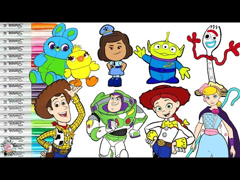 Disney S Toy Story 4 Coloring Book Compilation Buzz