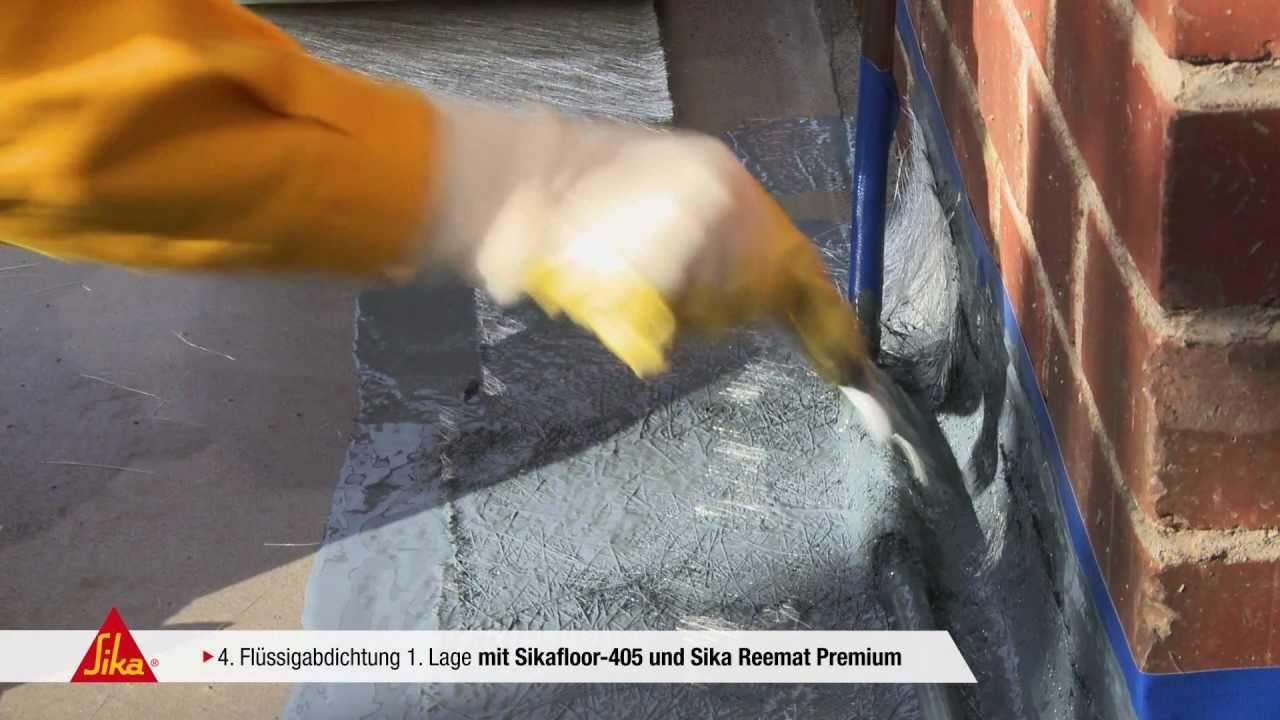 Sika Balkon Und Terrassen Abdichtung Sika Reemat Premium Und