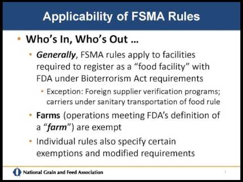 FSMA - Impacts on the Grain and Feed Industries - Dave Fairfield