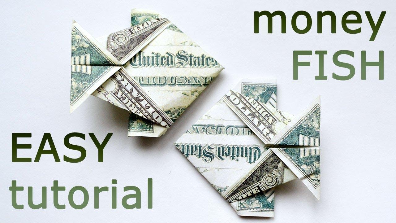 Very easy money fish origami 1 dollar tutorial diy folded no glue very easy money fish origami 1 dollar tutorial diy folded no glue and tape jeuxipadfo Choice Image