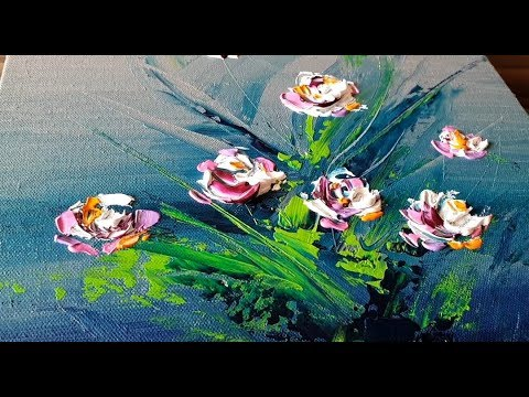 Easy Abstract Painting Floral Acrylics Demonstration Project 365 Days Day 0241