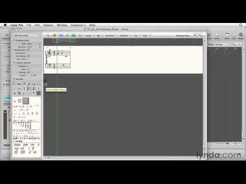 Logic Pro 9 Essential Training 7 A Score Editor