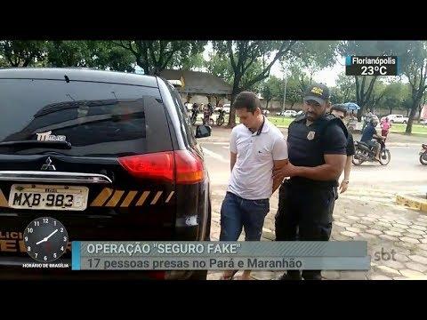 PF prende 17 pessoas em operação contra fraude no seguro desemprego | SBT Brasil (22/02/18)