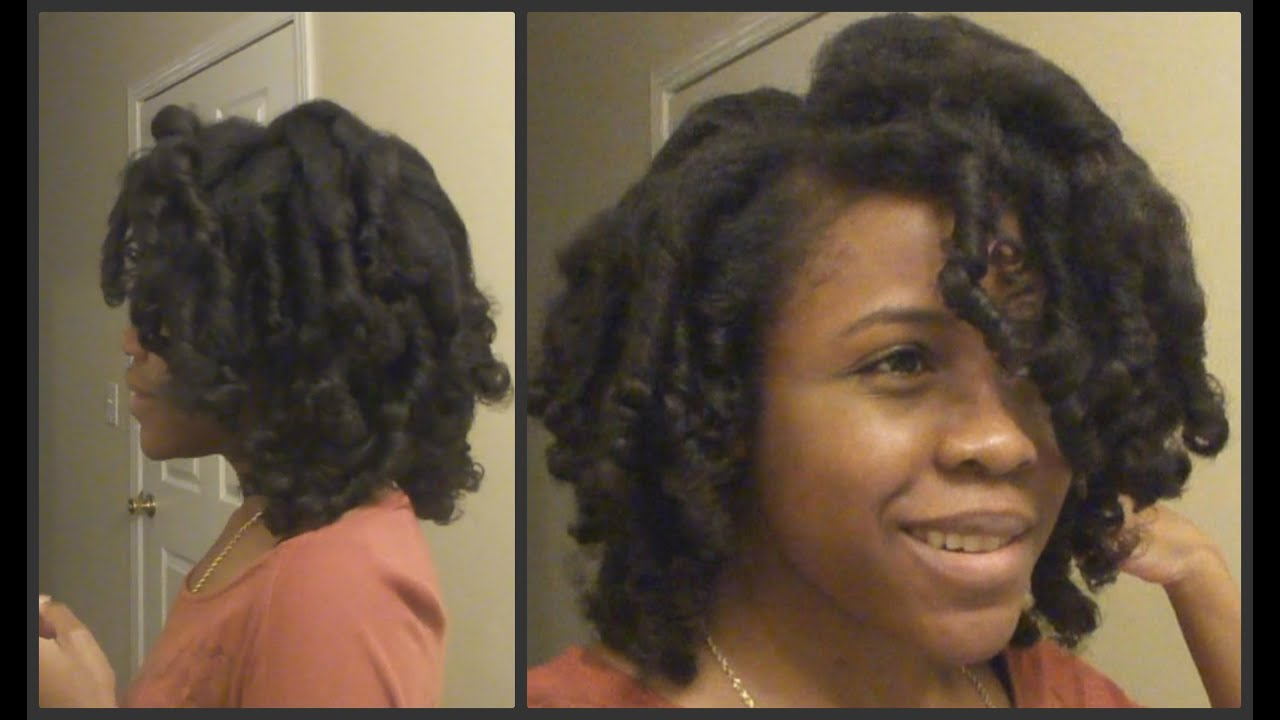 flexi rod set on natural hair spiral curls youtube