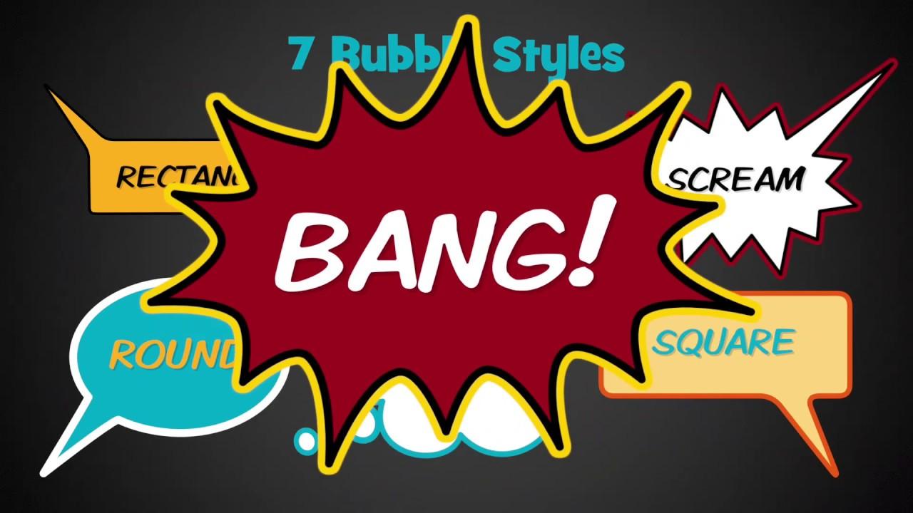 Speech Bubble, Cartoon Panel & Cartoon Effect Bundle