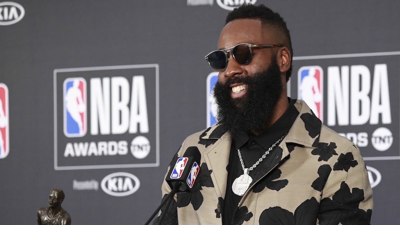 d0a269e6a82 James Harden Press Conference - MVP - Most Valuable Player Award - 2018 NBA  Awards. House of Highlights