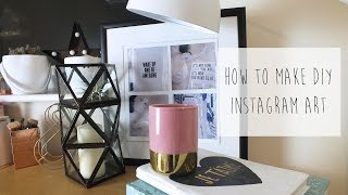 How to make DIY Instagram Wall Art- super easy tutorial! plus funny cats!