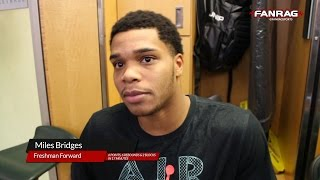 Michigan State Basketball: Miles Bridges following his first game back