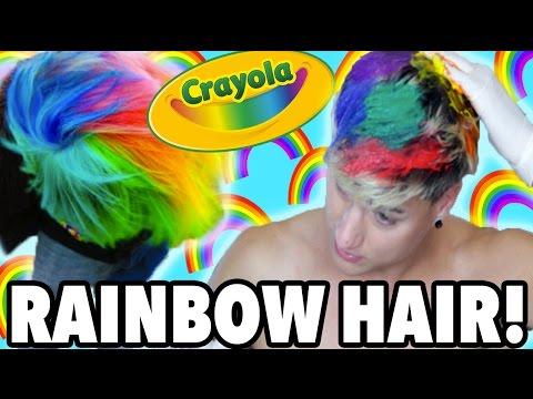 diy rainbow hair how to get rainbow hair with crayola markers