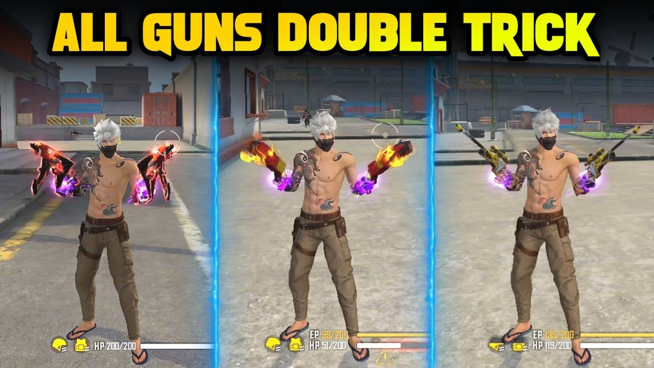 Download TOP 5 NEW TRICKS IN FREE FIRE   ALL GUNS DOUBLE TRICK (MP40, M1887, AWM, M82B & ALMOST ALL)