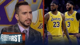 Anthony Davis can be No. 1 in name but LeBron still runs Lakers offense | NBA | FIRST THINGS FIRST