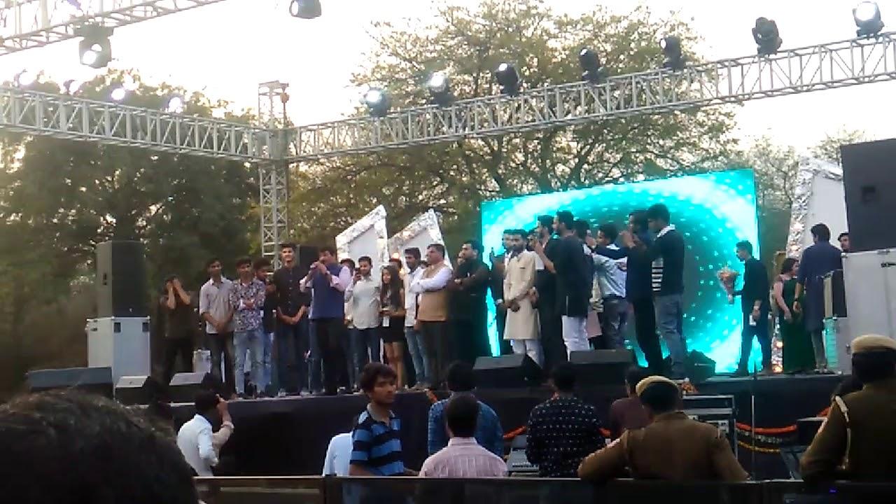 Manoj Tiwari at arsd college Delhi