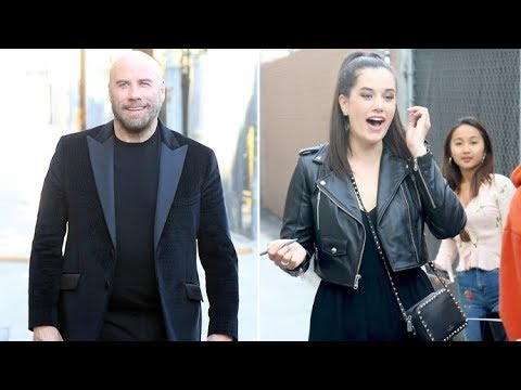 Ella Bleu Travolta Is Loving The Taste Of Fame As She Attends Jimmy Kimmel  Live With Dad John