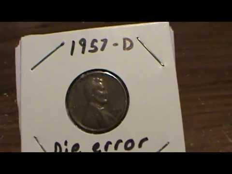 "1957-D ""BIE"" ERROR Penny"