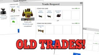 LOOKING AT OLD TRADES ON ROBLOX!